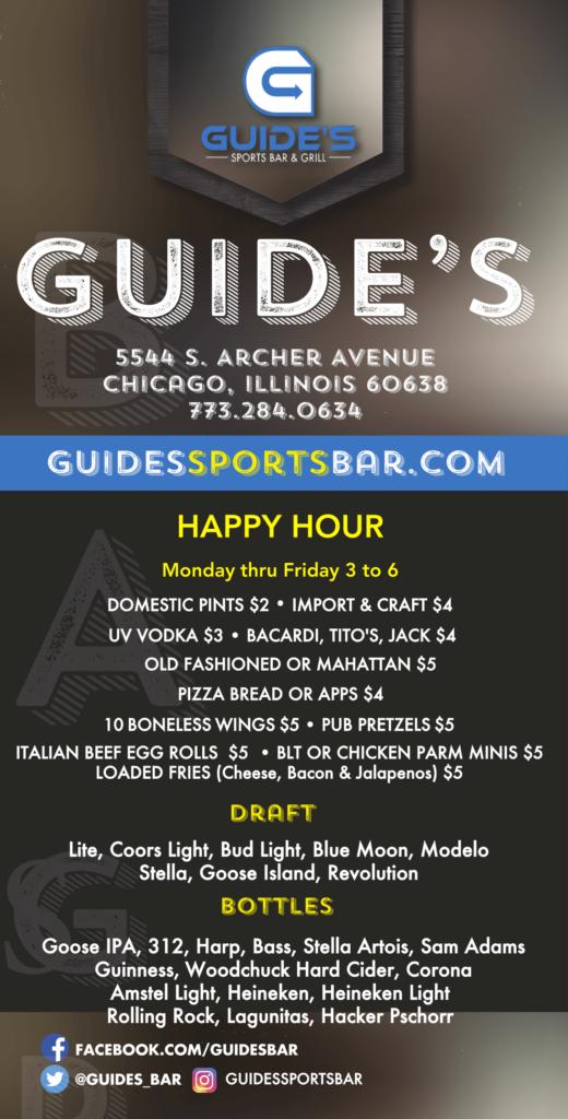 Bar Menu Specials